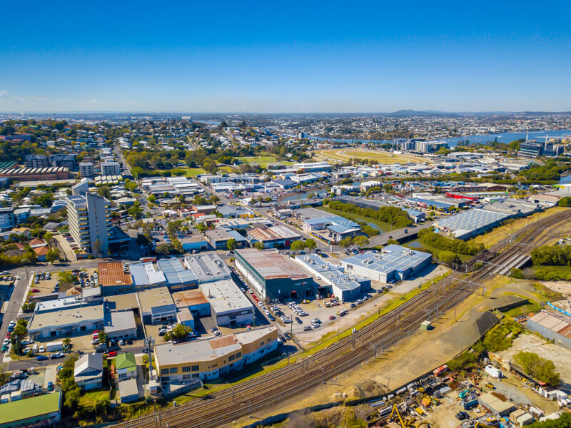 Vivid Productions Commercial Photography Video and Drones - Warehouse from the Street Aerial