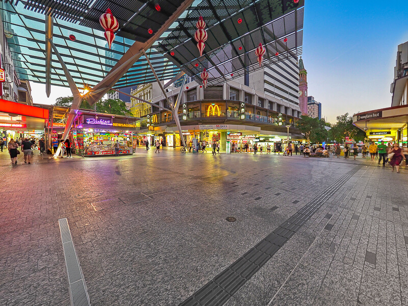 Vivid Productions Commercial Photography and Video Brisbane CBD - Below Covered Street Walk