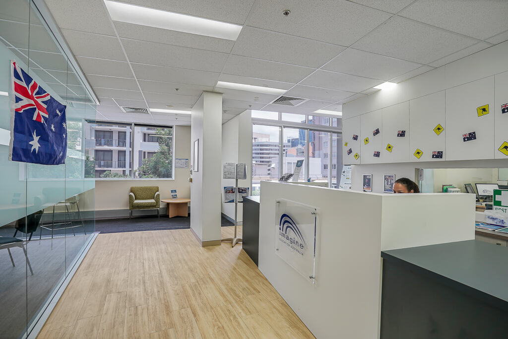 Vivid Productions Commercial Photography and Video Spring Hill - Reception Area with Lots of Australia Flags