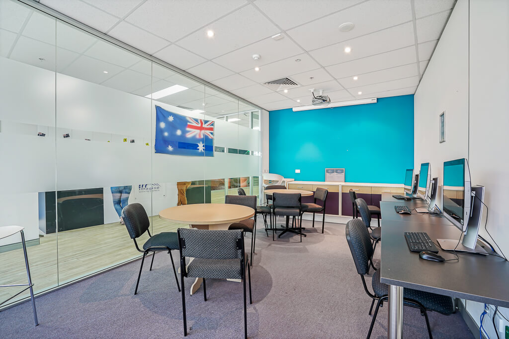 Vivid Productions Commercial Photography and Video Spring Hill - Training Board Room with Australia Flag