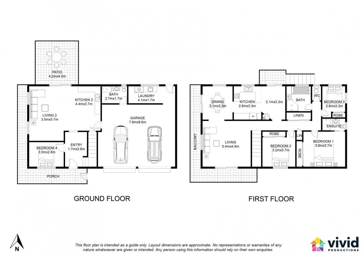 Vivid Productions Residential Floor Plans Service - 2 Carpark