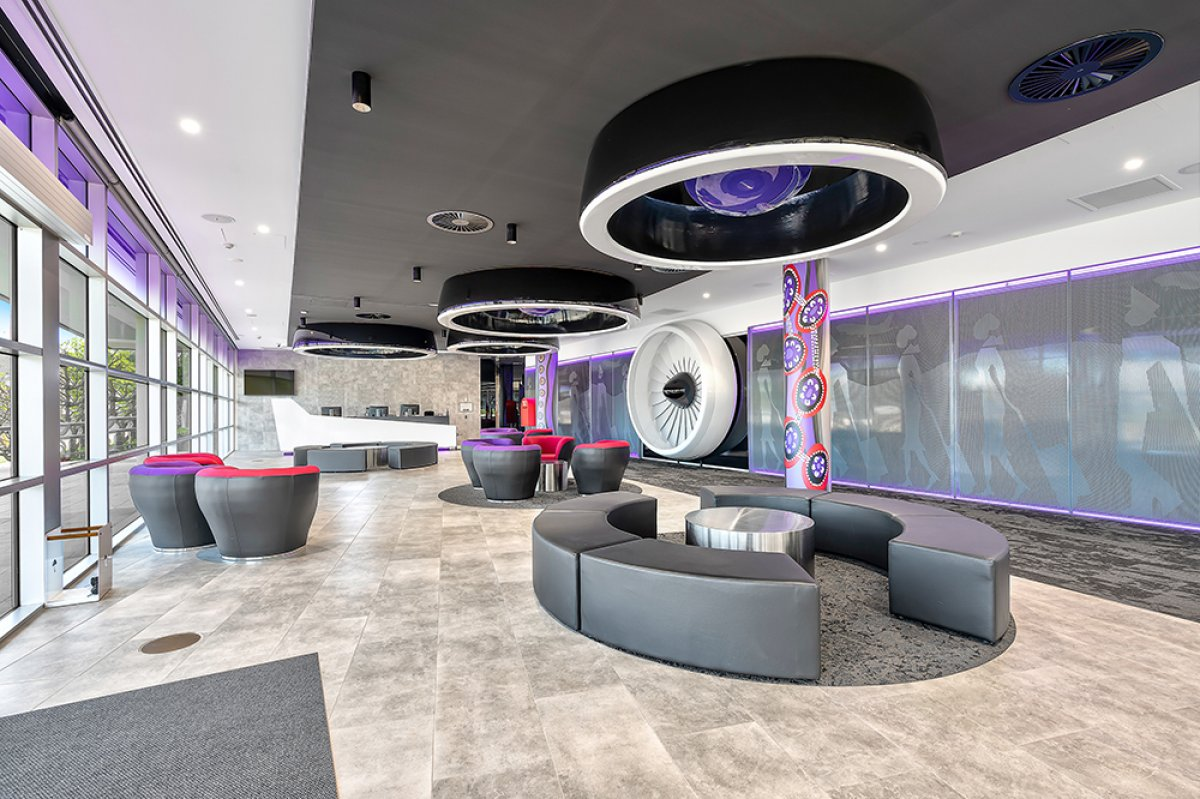 Vivid Productions Commercial Real Estate Photography - Spacious Office Building with Carpet Flooring