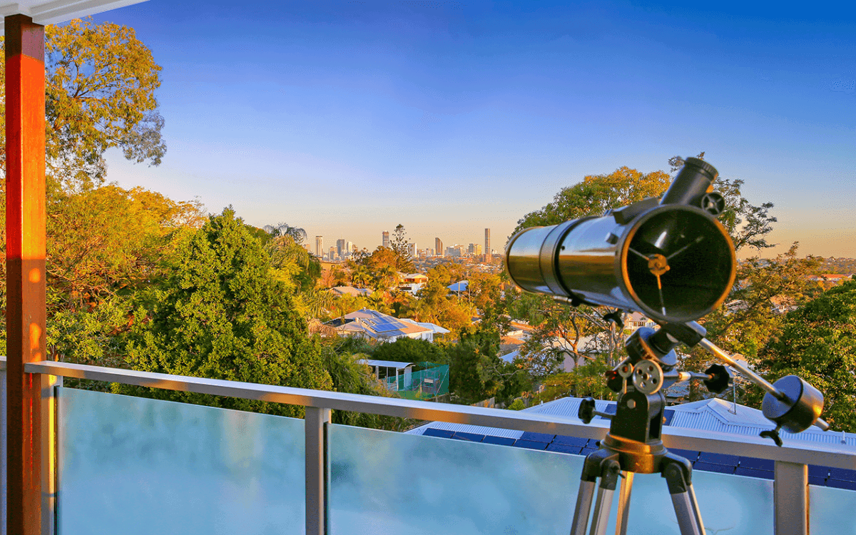 Vivid Productions Residential Real Estate Photography - Decking with Telescope